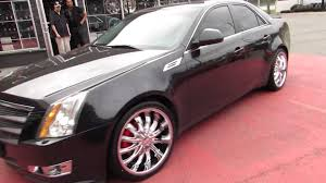 cadillac cts 20 inch wheels hillyard lions 2010 cadillac cts on 20 inch chrome