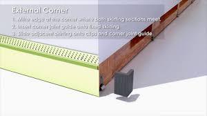 Laminate Flooring Skirting Board Trim Shadowline Skirting System Youtube
