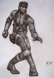 solid snake pencil drawing by spectrum vii on deviantart