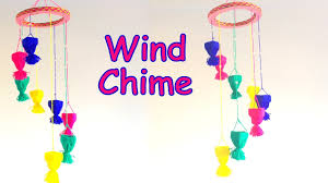 diy how to make wall hanging wind chime using yarn easily home