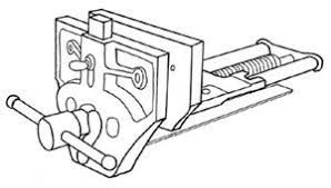 Install Bench Vise Mounting Quick Release Vise Instructions