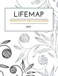 Life Map Lifemap Productivity U0026 Life Planner 2017 Gray Spiral Black U0026white