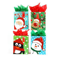 christmas gift bag large faces glitter christmas gift