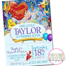 18 best invitations ariel little mermaid images on pinterest