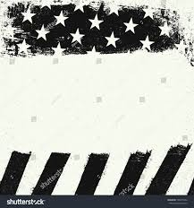 Black And White American Flag Empty White Grunge Copy Space On Stock Illustration 528675364