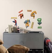 interior design amazing superhero wall decals for kids bedroom the