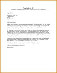 Cover Letter For Nursing Resume registered nurse cover letter letter format template