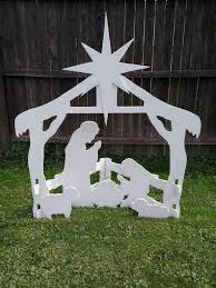 outdoor nativity outdoor wood yard lawn