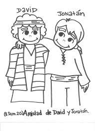 david and jonathan coloring page sketch coloring page