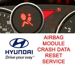 2006 hyundai tucson airbag light hyundai airbag module crash data reset removal service