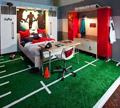 This Is So Cool Boys Football Theme Bedroom With Slide Modern - Kids football room