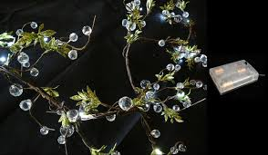 beaded led garlands 24 lights w battery pack wedding