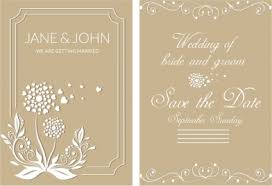 wedding postcard template classical decoration vectors stock in
