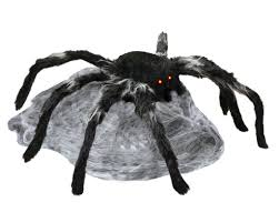 black animated jumping spider halloween prop spider and animated