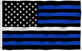 Rules For Flying The American Flag At Night Amazon Com Anley Fly Breeze 3x5 Foot Thin Blue Line Usa Flag