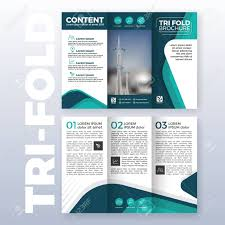 tri fold brochure template illustrator free business tri fold brochure template design with turquoise color