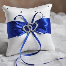 wedding pillows royal blue uk style bridal wedding ceremony ring bearer pillow