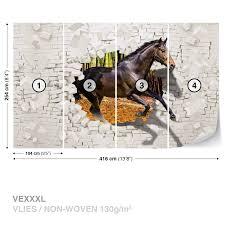 wall mural photo wallpaper xxl horse jumping through wall 3138ws wall mural photo wallpaper xxl horse jumping through