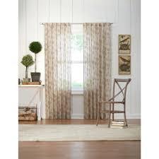 martha stewart living taupe leaf back tab curtain 1624091 the