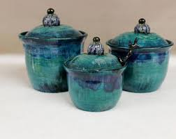 turquoise kitchen canisters kitchen canisters etsy
