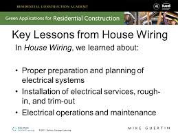 house wiring green application ppt download