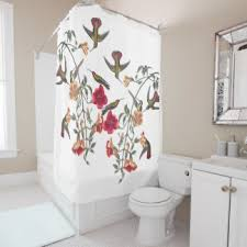 Shower Curtains With Birds Floral Shower Curtains Zazzle