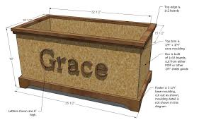 Free Wooden Box Plans by Ana White Build A Toybox Or Toy Chest Diy Projects
