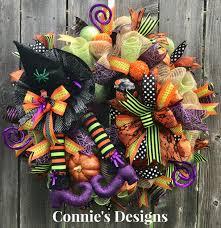 Halloween Wreaths Pinterest by Connie U0027s Designs Halloween Witch Wreath Wreaths Pinterest