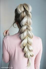 show pix of braid pull through braid how to do an easy braid hairstyle tutorial
