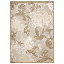 hampton bay structure floral beige 7 ft 5 in x 10 ft 8 in