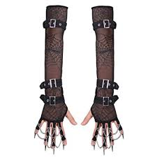 Steampunk Halloween Costumes Amazon Steampunk Victorian Lace Fingerless Gloves Arm Warmer