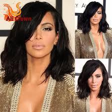 kim kardashian bob haircut virgin brazilian hair lace front wig