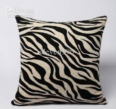 45cm x 45cm black u0026amp white zebra pattern cushion cover pillow