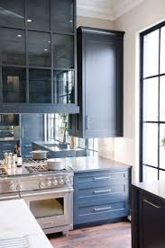Blue Kitchen Backsplash by Best 20 Mirror Backsplash Ideas On Pinterest Mirror Splashback