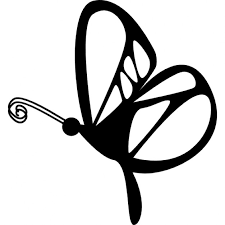 butterfly design from side view icons free