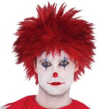 scary clown halloween mask christys dress up adults evil clown wig shirt or weapon halloween