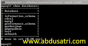 membuat database lewat cmd membuat database mysql dengan command prompt danish f
