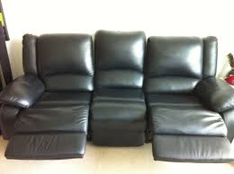3 Seat Recliner Sofa by 3 Seater Reclining Leather Sofa 399
