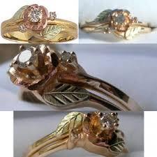 gold ring wedding set diamond 14