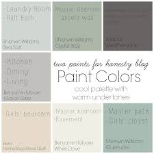 two points for honesty whole house paint palette