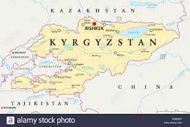 Arizona Map With Cities Kyrgyzstan Political Map With Capital Bishkek National Borders