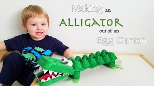 making an alligator out of an egg carton youtube