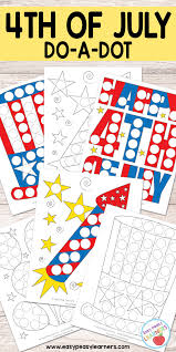 free 4th of july do a dot printables easy peasy learners