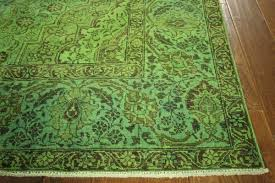 Floral Pattern Rugs Interior Lime Green Carpet With White Floral Pattern With Wool