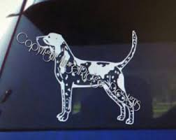 bluetick coonhound stuffed animal coon hunting decal etsy
