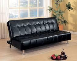 Black Sofa Sleeper by Manny Black Leatherette Futon Collection Las Vegas Furniture