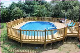 cool above ground pool decks to empower your home entertainment
