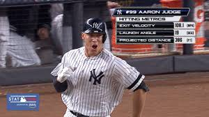 Aaron Judge Yankees Slugger Becomes Tallest Center Fielder - yanks aaron judge homers in al wild card game mlb com