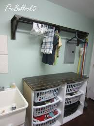 laundry room shelf with hanging rod 20