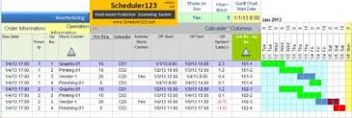 Production Schedule Template Excel Free Production Planning And Scheduling In Excel Spreadsheet Templates